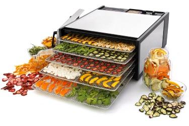 Подсушивание фруктов и овощей в дегидраторе Excalibur Lux 5SS