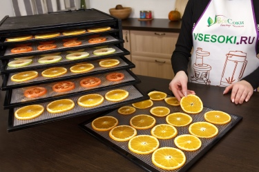 Подсушивание овощей и фруктов в дегидраторе