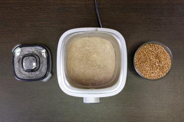 Приготовление муки в стальной чаше блендера L'equip BS7