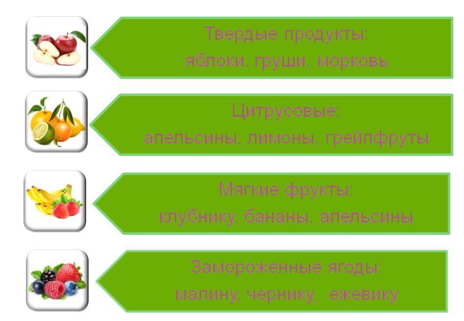 Возможности блендера для фруктов и ягод