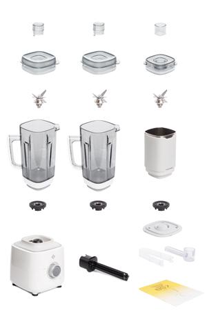 Комплектация блендера L'equip BS7C Quattro (белый, 3 чаши)