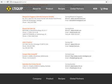 Партнеры L'equip на официальном сайте