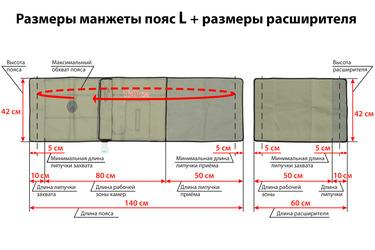 Размеры манжеты-пояса с расширителем