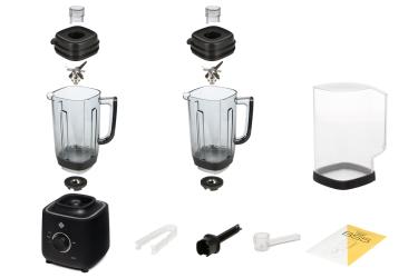 Комплектация блендера L'equip BS5 (чёрный, тритановая чаша и шумоизоляционный колпак)