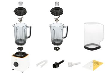 Комплектация блендера L'equip BS5 (белый, тритановая чаша и шумоизоляционный колпак)