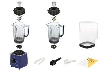 Комплектация блендера L'equip BS5 (сапфировый, тритановая чаша и шумоизоляционный колпак)