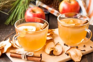 Яблочный безалкогольный пунш