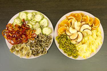 Фрукты, овощи и грибы, высушенные в дегидраторе L'equip LD-918BT