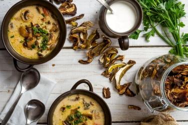 Пошаговые рецепты с сушёными грибами
