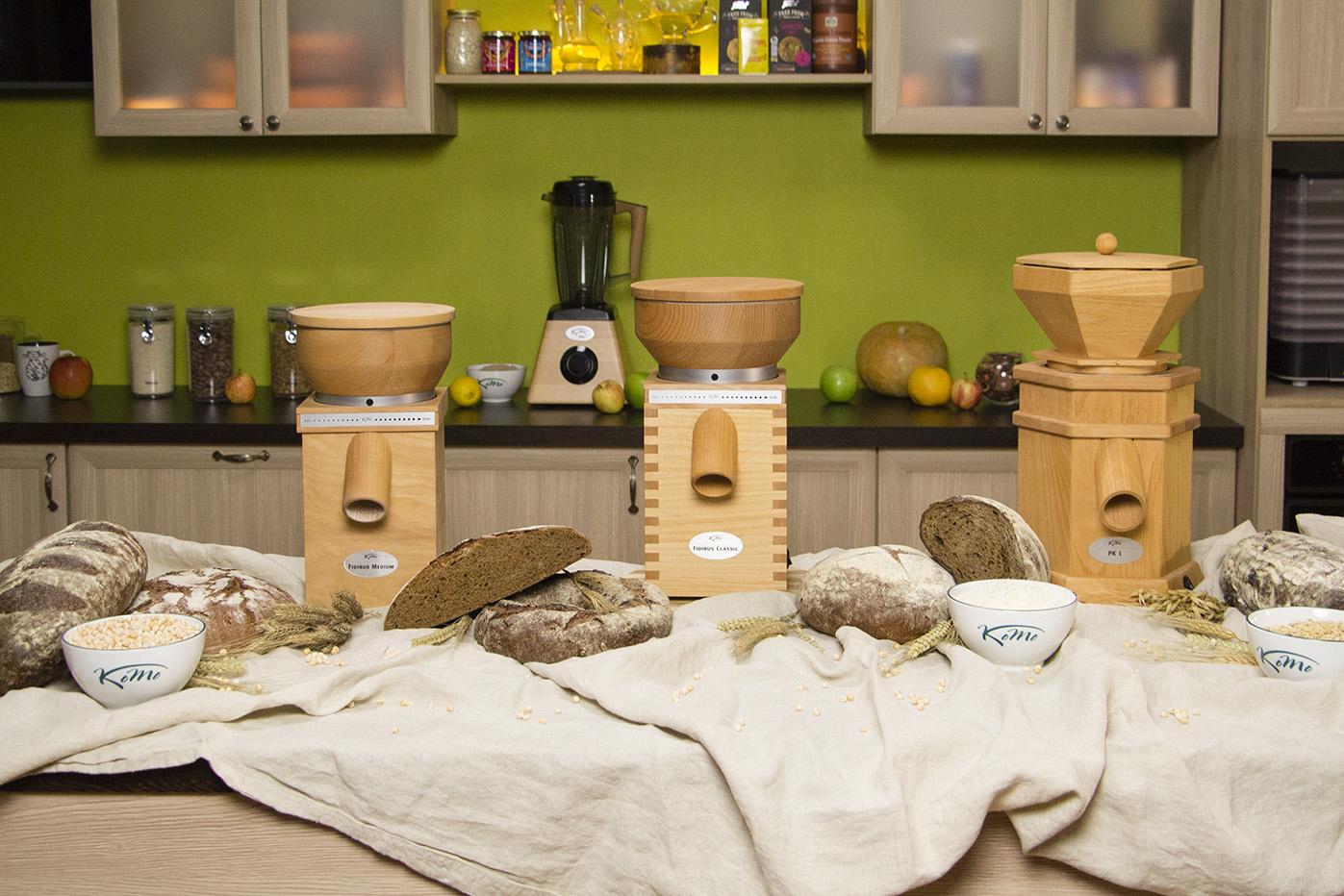 Мельницы KoMo в интерьере кухни