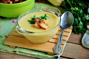 Рецепт супа-пюре из сливок и кабачков