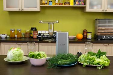 Ингредиенты для зелёного сока в Hurom GI-SBE08