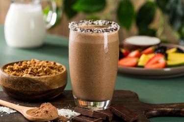 Рецепт шоколадного коктейля в блендере