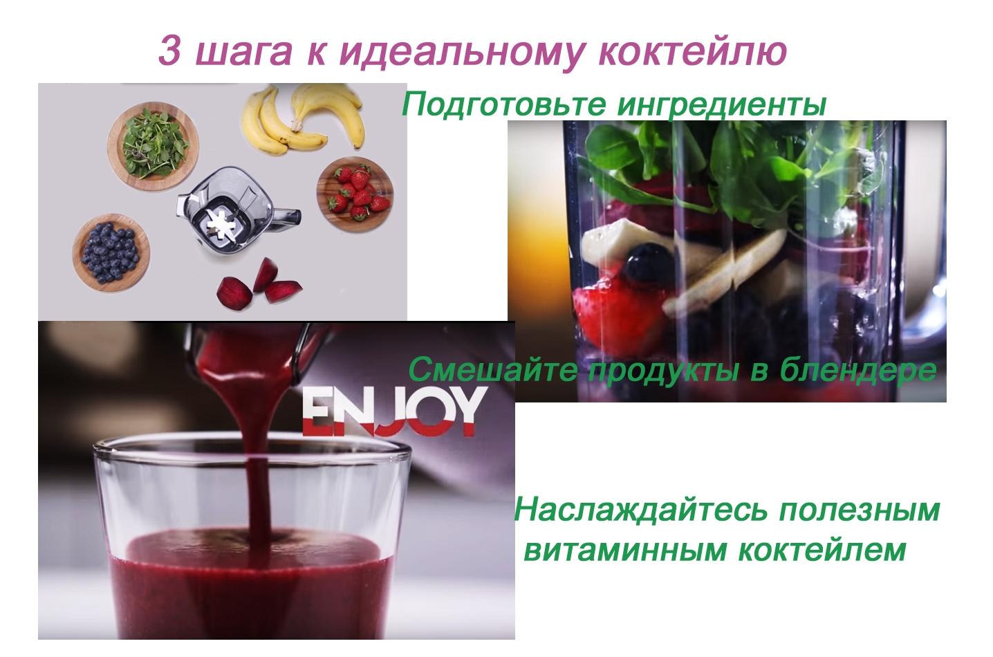 Инструкция для приготовления коктейля в блендере