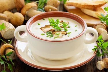 Крем-суп пюре грибной
