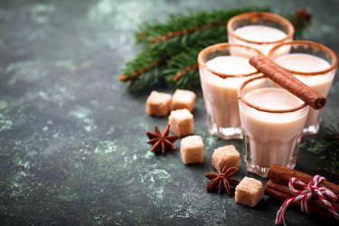 Молочный коктейль на рождество