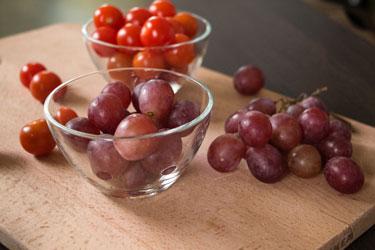 Мультисок в соковыжималке Хуром Шеф: виноград, черри, лимон