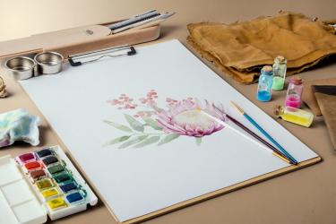 Акварельный рисунок цветов