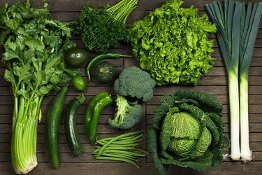 Зелёные продукты питания