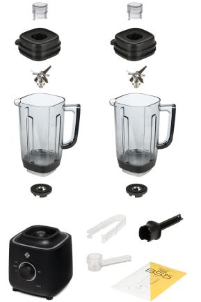 Комплектация блендера L'equip BS5 (чёрный, 2 чаши)