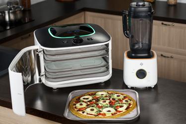 Пицца для сыроедов в технике L'equip