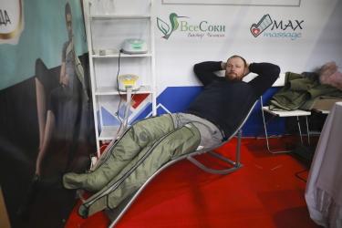 Бесплатный лимфодренажный массаж и прессотерапия на фестивале корейской культуры в СПб 2019