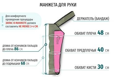 Размеры манжеты-рукава