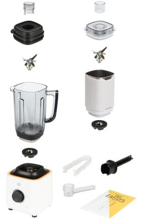 Комплектация блендера L'equip BS5 (белый, 1 чаша)