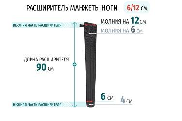 Размеры расширителя манжеты ноги 12 см