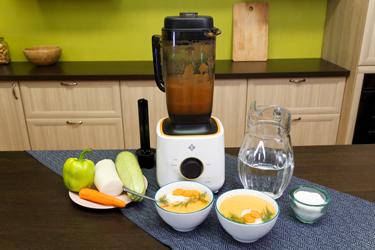 Сыроедческий овощной суп в блендере L'equip BS5 Cube