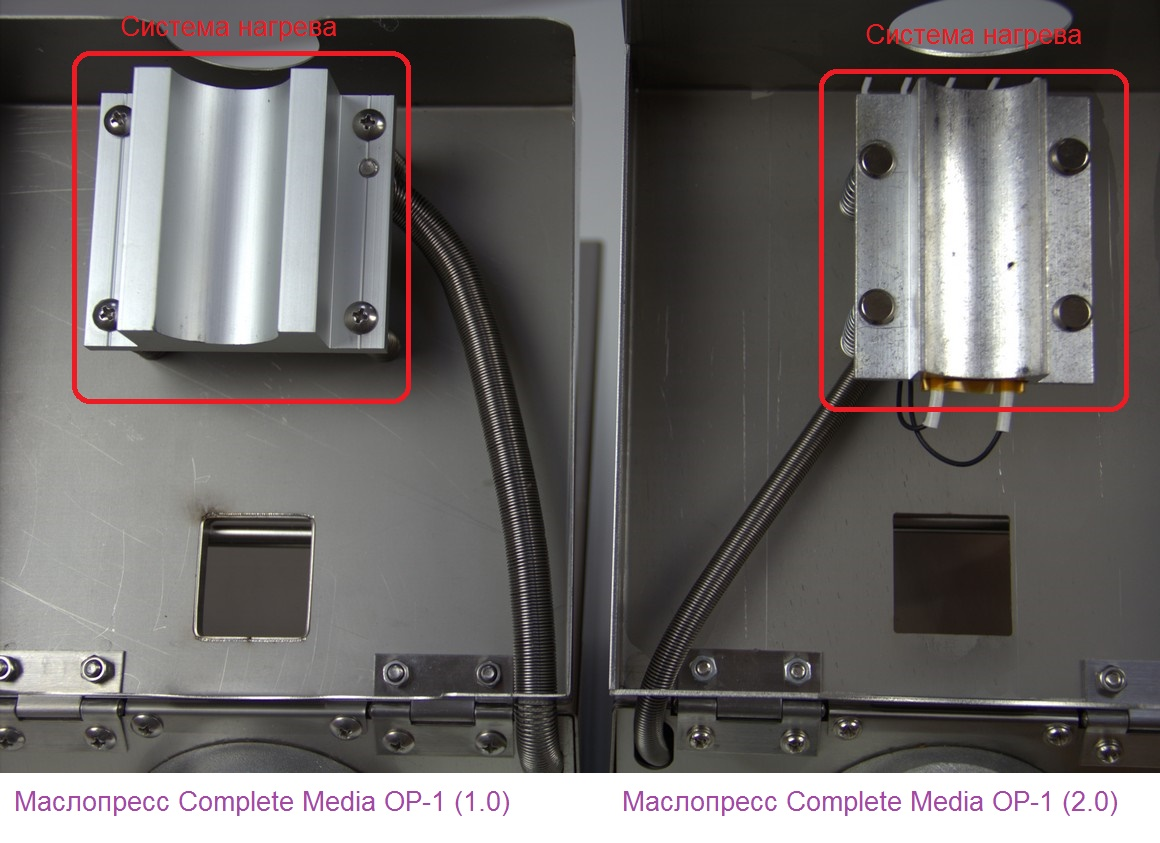 Сравнение нагревателей маслопрессов Complete Media